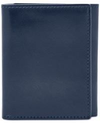Fossil Paul Leather Trifold Wallet Navy