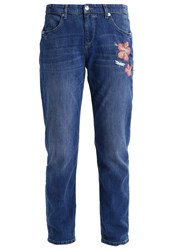 M A C Mac Paradise Relaxed Fit Jeans Mid Blue Cool Dark Blue Denim