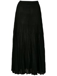 Spacenk Nk Lurex Knit Long Skirt Black