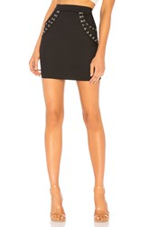 By The Way Ayleen Hook And Eye Mini Skirt Black