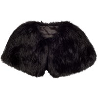 Chesca Faux Fur Luxury Shrug Black