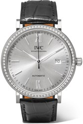 Iwc Schaffhausen Portofino Automatic 40 Alligator White Gold