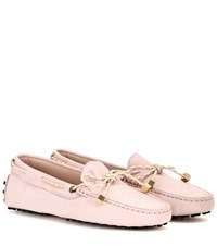 Tod's Heaven Laccetto Scooby Doo Suede Loafers Pink