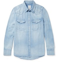 Visvim Social Sculpture Washed Denim Shirt Blue
