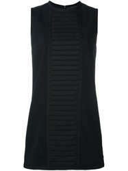 Dsquared2 'Military' Rib Detail Dress Black