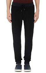 Barneys New York Men's Cotton French Terry Jogger Pants Black