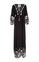 Figue Embroidered Lola Maxi Dress Black
