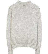 Isabel Marant Finn Wool And Camel Blend Sweater Grey