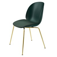 Gubi Beetle Dining Chair Upholstered Seat And Brass Legs