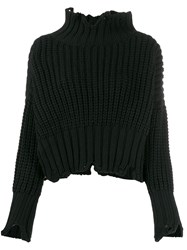 Transit Distressed Finish Jumper Black