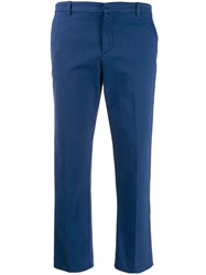 Haikure Cropped Trousers Blue
