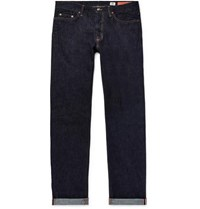 Jean Shop Bowie Slim Fit Selvedge Denim Jeans Dark Denim