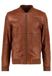 Freaky Nation Clubber Bomber Jacket Cognac