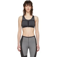 Nike Black And Grey Flyknit Fe Nom Bra