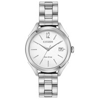 Citizen Fe6140 54A Women's Stainless Steel Round Watch Silver