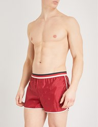 Gucci Striped Bee Jacquard Swim Shorts Red