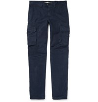Incotex Slim Fit Cotton Twill Chinos Blue