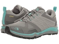 The North Face Ultra Fastpack Ii Gtx Moon Mist Grey Agate Green Women's Shoes Brown