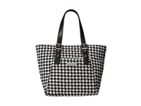 Vera Bradley Be Colorful Tote Midnight Houndstooth Tote Handbags Black