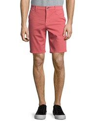 7 For All Mankind Stretch Cotton Flat Front Shorts Faded Rose