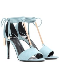 Pierre Hardy Blondie Suede Sandals Blue