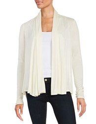 Ellen Tracy Draped Open Front Cardigan Yellow