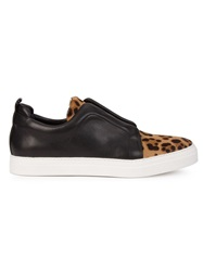 Pierre Hardy Leopard Panel Trainers Black