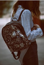 Free People Womens Olympia Sequin Backpack