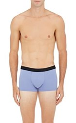 Hanro Men's Logo Waistband Microfiber Briefs Blue