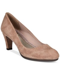 Easy Spirit Neoma Pumps Women's Shoes Dark Taupe Suede