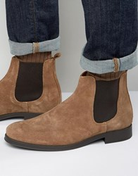 Selected Homme Oliver Suede Chelsea Boots Brown
