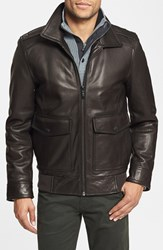 Men's Vince Camuto Leather Bomber Jacket Online Only