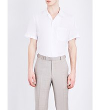 Richard James Pinstripe Cotton Shirt White