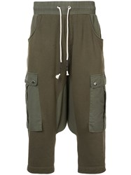 Mostly Heard Rarely Seen Drop Crotch Cargo Hybrid Pants Cotton L Green