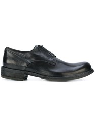 Officine Creative Lace Up Derby Shoes Calf Leather Leather Rubber Black