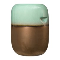 Pols Potten Ceramic Pill Stool Green Bronze Gradient