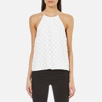 C Meo Collective Women's Faded Light Halter Top Ivory White