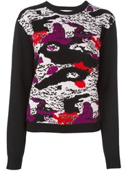Carven Abstract Print Jumper Black