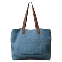 East Hobo Jute Bag Mid Blue