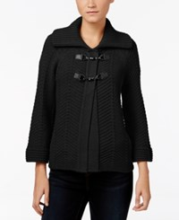 Jm Collection Toggle Cardigan Only At Macy's Deep Black