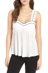Line And Dot Women's Habana Frill Tank