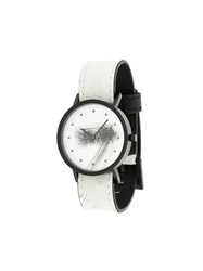 South Lane Avant Silent Watch Stainless Steel Calf Leather White