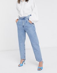 Weekday Frame Relaxed Fit Cocoon Jean In Pen Blue