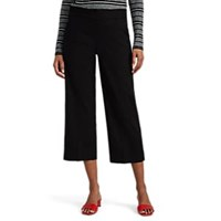Leo And Sage Crop Wide Leg Trousers Black