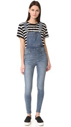 Cheap Monday Dungaree Spray Blue Noise Overalls