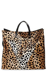 Clare V. Genuine Calf Hair Cheetah Print Tote