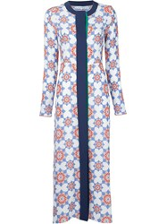 Jonathan Saunders Star Print Long Coat White