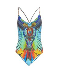 Camilla Flightful Embellished Swimsuit Blue Multi