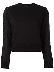 Neil Barrett Lattice Detail Sweatshirt Black