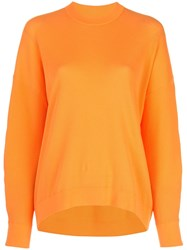 Tibi Sculpted Sleeve Jumper Orange
